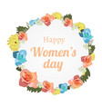 international women s day banner with banner vector image