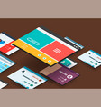 isometric app concept vector image vector image