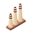 Isometric tube factory vector image vector image