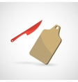 knife and board vector image