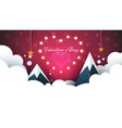 love light valentine s day cloud vector image vector image