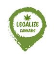medical cannabis or marijuana leaf badge hemp vector image