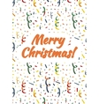 merry christmas card cover with exploding popper vector image vector image