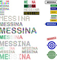Messina text design set vector image vector image
