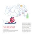 mountain ski resort concept vector image vector image
