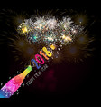 new year champagne toast 2018 background vector image