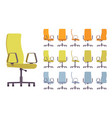 office chair interior set vector image vector image