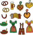 oktoberfest icon set oktoberfest doodle vector image