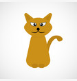 orange cartoon cat vector image