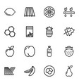organic icons vector image vector image