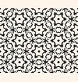 ornamental pattern stars pattern floral figures vector image vector image