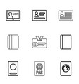 pass icons vector image vector image