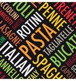 pasta background vector image