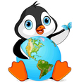 Penguin Earth Day vector image vector image