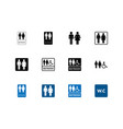 restroom sign icon for public navigation symbol vector image vector image