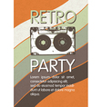 Retro music party poster design Disco music vector image vector image