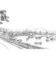 rio de janeiro brazil vector image