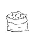 sack potatoes vector image vector image
