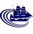 Sailing ship-5 vector image vector image
