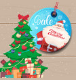 sale tag marry christmas concept shopping poster vector image