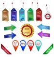 Sale tags and labels vector image vector image