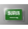 Saudi Arabia Flag Glossy Button