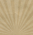 Vintage Sunburst Cardboard vector image