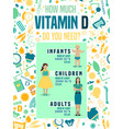vitamin d posters-08 vector image