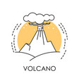 volcano isolated icon volcanic eruption natural vector image