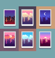 windows day time early morning sunrise sunset vector image