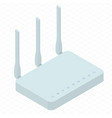 wireless wi-fi router vector image vector image