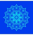 Yoga Ornament kaleidoscopic yantra Indian Art vector image vector image