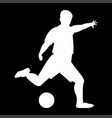 footballer it is the white color icon vector image