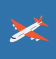 airplane isometric vector image