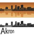 Akron skyline in orange vector image vector image