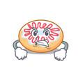 angry jelly donut mascot cartoon vector image