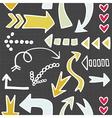 Arrows background vector image vector image