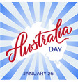 australia day text greeting card vector image vector image
