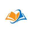 book education arrow logo vector image vector image