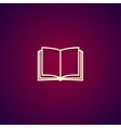 book icon Flat design style vector image vector image