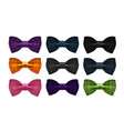 bow tie collection bowtie necktie symbol or icon vector image