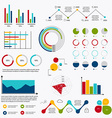 Business data market elements dot bar pie charts vector image vector image
