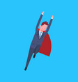 business man wearing red hero cape businessman vector image