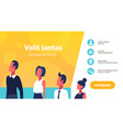 business people career ladder presenting business vector image