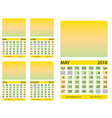 calendar grid may june july august vector image