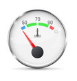 car engine temperature gauge cold with metal vector image vector image