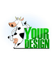 cartoon cow emblem for logo your design vector image vector image