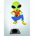 Cartoon Videogame Alien vector image vector image