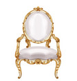 chair gold ornamented watercolor baroque rich vector image vector image