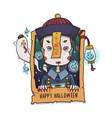 chinese hopping vampire ghost for halloween vector image vector image